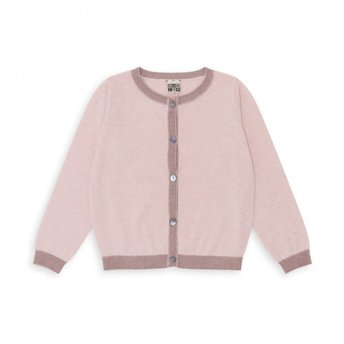 Baby & Kid Contrasting Cardigan - Rose ★ONLY 6A★