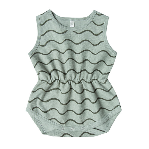 Rolling Waves Cinch Playsuit - Sea Foam ★ONLY 12-18M★