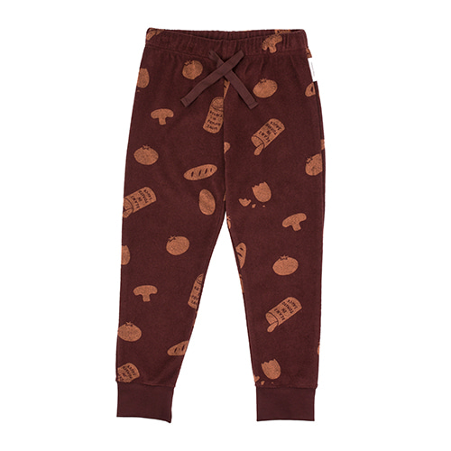Groceries Towel Sweatpant - Plum/Terracotta