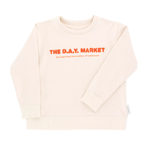 The Day Market Graphic Sweatshirt - Beige/Red