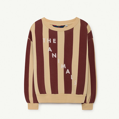 Bear Kids Sweatshirt - Yellow Maroon Stripes
