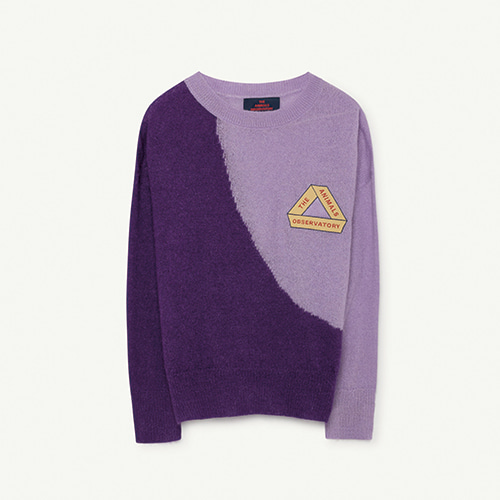 Bicolor Bull Kids Sweater - Purple Triangle