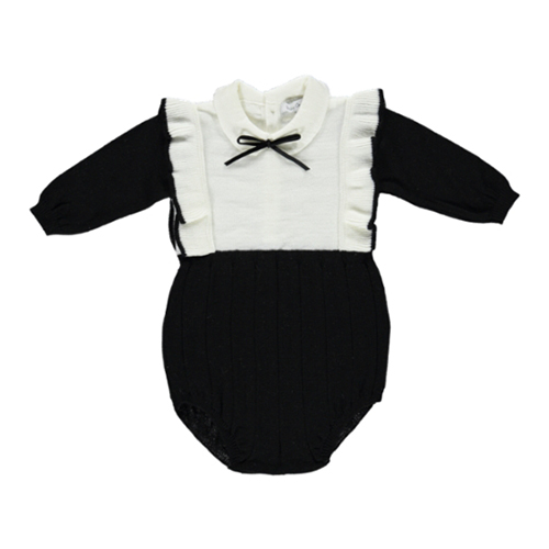 Amelia Knitted Romper - Black ★ONLY 18M★