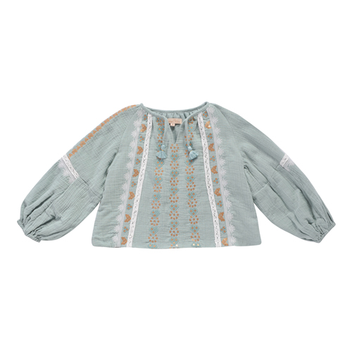 Sokiov Blouse - Silver Cloud ★ONLY 8Y★