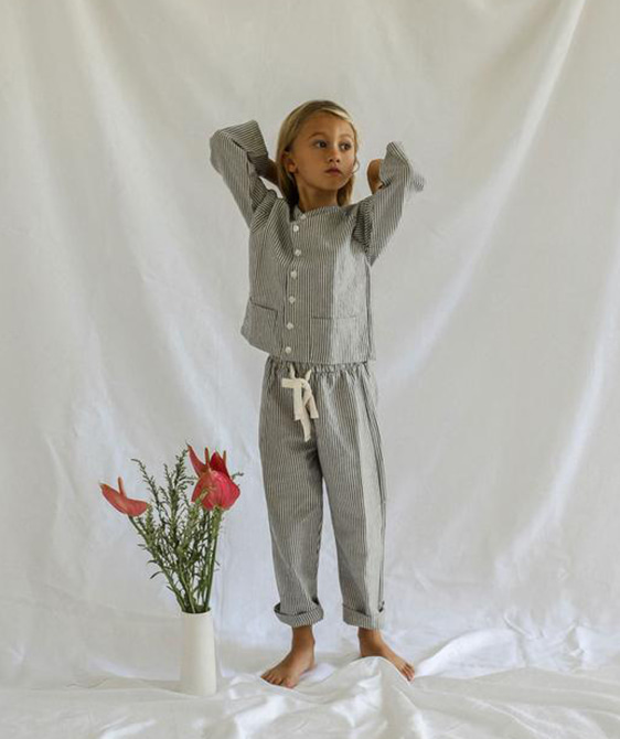 Marius Pyjama Set - Blue Stripe