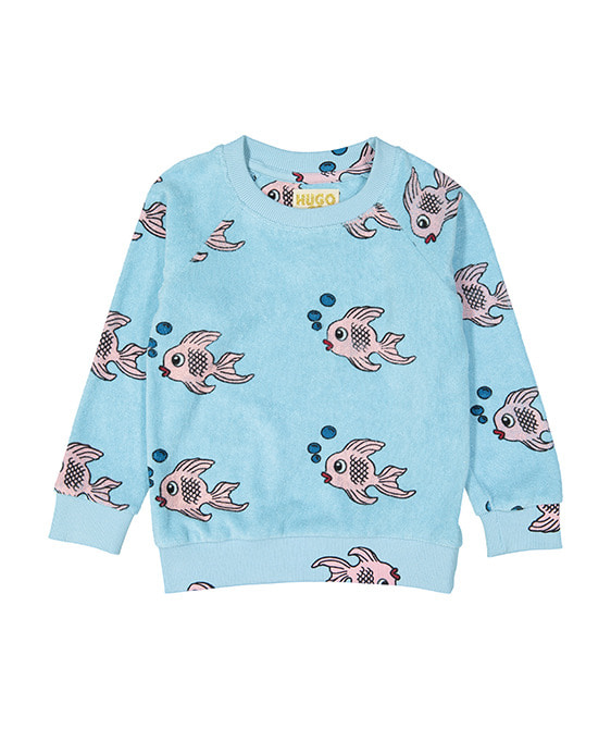 Terry Sweatshirt - Blue Fish