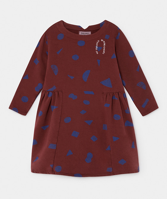 All Over Stuff Fleece Dress #081