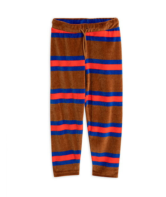 Velour Stripe Trousers - Brown