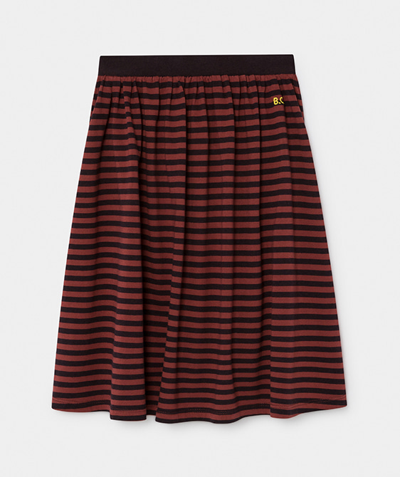 Striped Midi Skirt #074
