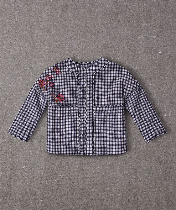 Sienna Jacket - Blue Gingham