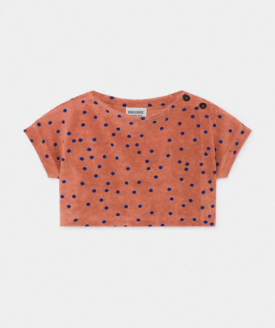 Spots Terry Towel Cropped Sweatshirt (Kid) #01034 ★ONLY 2-3Y★