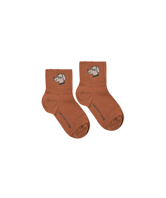 Dog Quarter Socks - Cinnamon/Cappuccino ★ONLY 6Y★