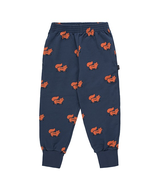 """Foxes"" Sweatpants - Light Navy/Sienna"