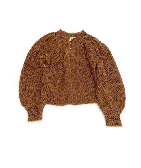 Rough Cardigan #20216- Golden Brown ★ONLY 10Y★