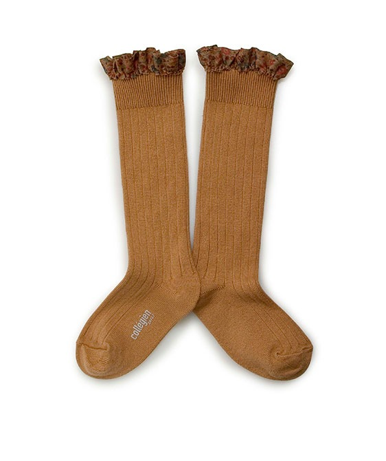 Elisabeth Liberty® Ruffle Knee-High Socks - #779 Salt Caramel