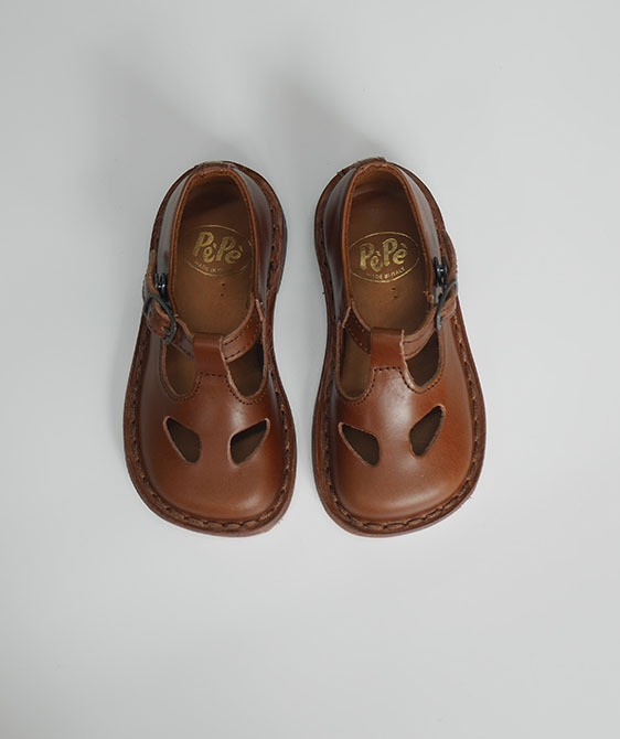 Pepe Shoes - #1026 Cacao ( Snap Button Type)