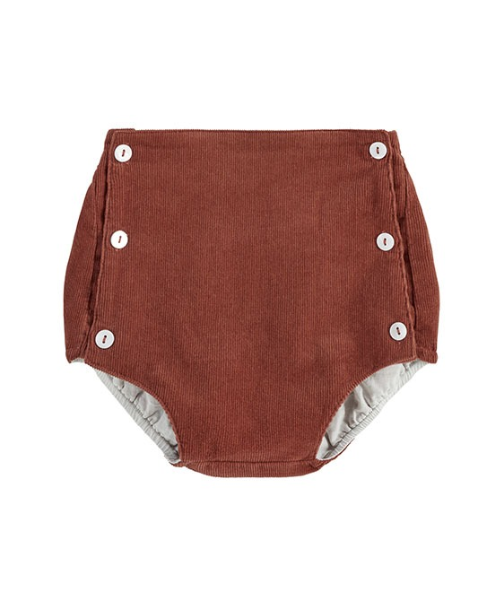 Folkstone Button Front Bloomers - Clay Velvet