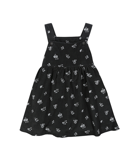 Tabitha Pinafore - Charcoal Floral (Needle Cord) ★ONLY 5-6Y★