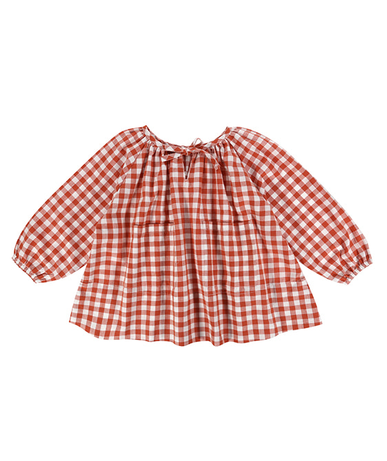 Olive Top - Rust Gingham