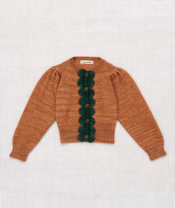 Scallop Cardigan - Rose Gold/Laurel