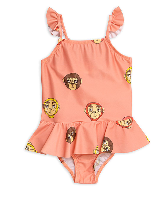 Monkey Skirt Swimsuit - Pink