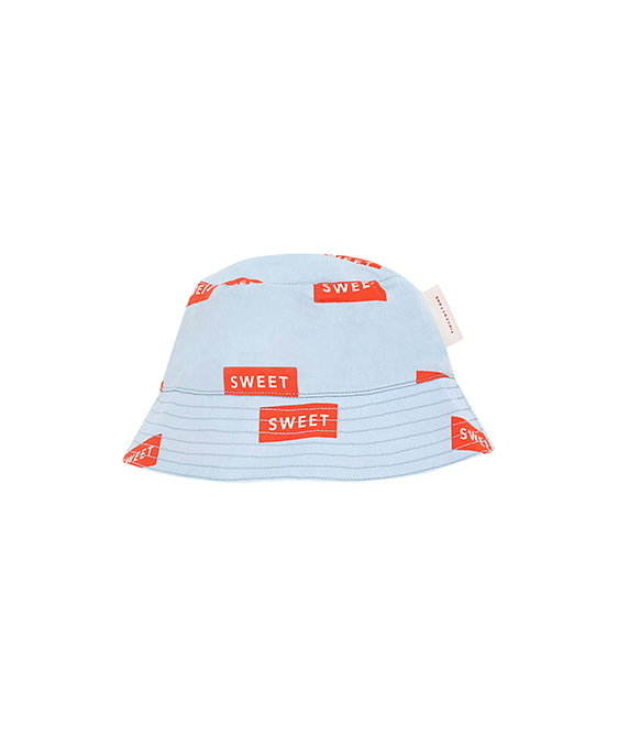 'Sweet' Sun Hat - Mild Blue/Red