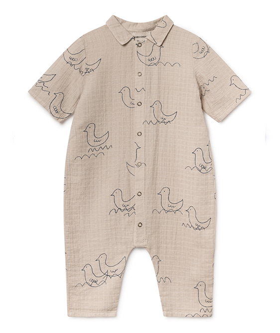 Geese Buttons Playsuit #209