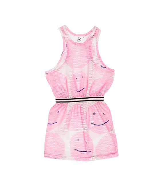 Net Dress - Pink Smiley