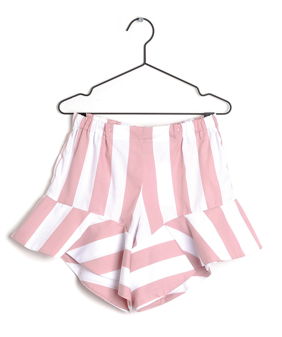 Aurelia Pink Stripes Shorts