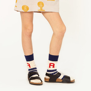 Snake Kid Socks - Navy Blue
