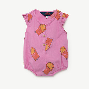 Butterfly Baby Suit - Fuchsia Halleys