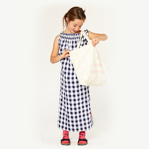 Dolphin Kid Dress -  Navy Blue Peach