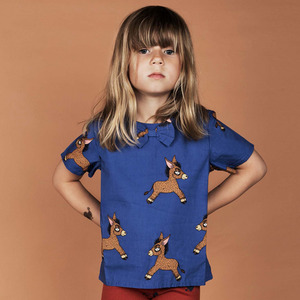 Donkey Woven SS Blouse - Blue ★ONLY 6Y★