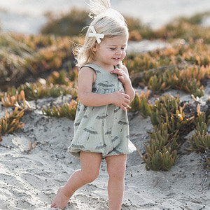 Umbrella June Romper - Sea Foam ★ONLY 12-18M★