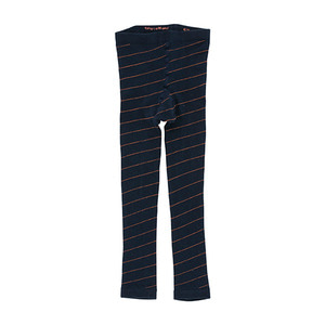 Diagonal Stripes Leggings - Navy/Red ★ONLY 4Y★
