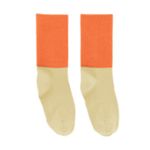 Rib Medium Socks - Sand/Red