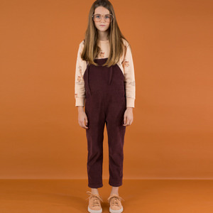 Corduroy Sl One Piece - Plum