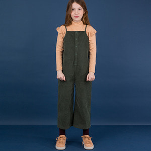 Corduroy Sl One Piece - Dark Green
