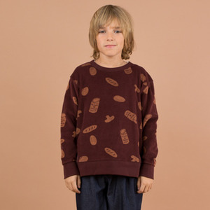 Groceries Towel Sweatshirt - Plum/Terracotta