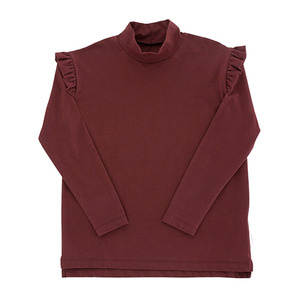 Solid Mockneck Tee - Plum ★ONLY 10Y★