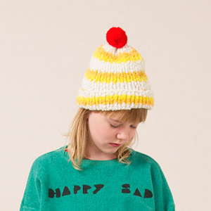 Jacquard Yellow Stripes Beanie ★ONLY BABY★
