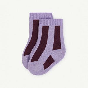 Skunk Baby Socks - Purple