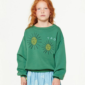 Bear Kids Sweatshirt - Green Yellow Suns ★ONLY 8Y★