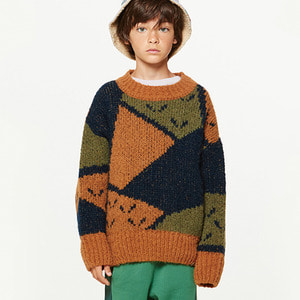 Arty Bull Kids Sweater - Deep Brown