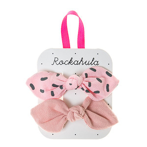 Sprinkles Bow Clips - Pink