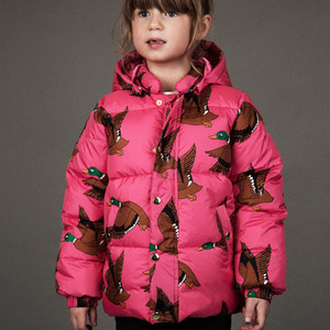 Ducks Puffer Jacket - Cerise