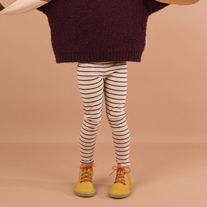 Small Stripes Pant - Nude/Plum ★ONLY 8Y★