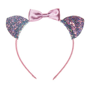 Suki Cat Ears Alice Band - Pink