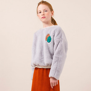 Happy Sad Faux Fur Sweatshirt