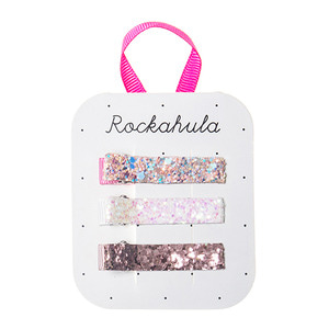 Sparkly Bar Clips - Pinks